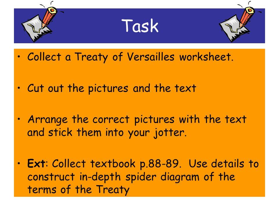 treaty of versailles worksheet pdf