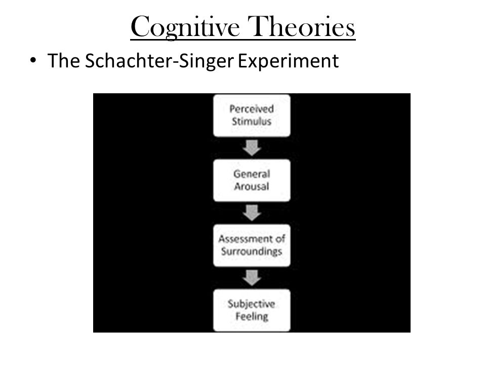 Cognitive Theories The Schachter-Singer Experiment