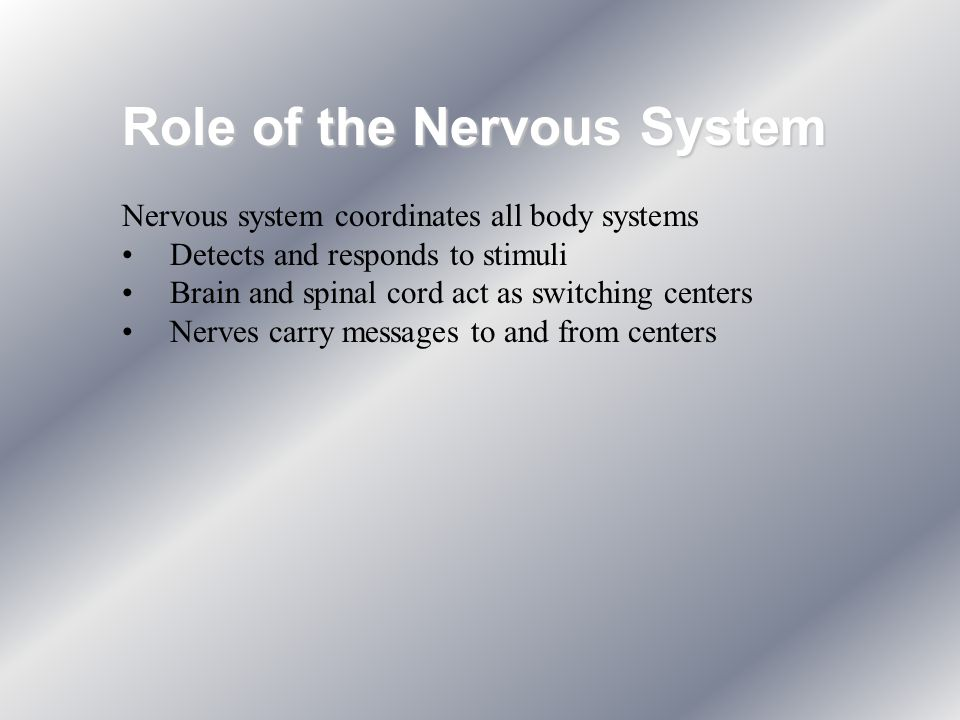 Role of the Nervous System