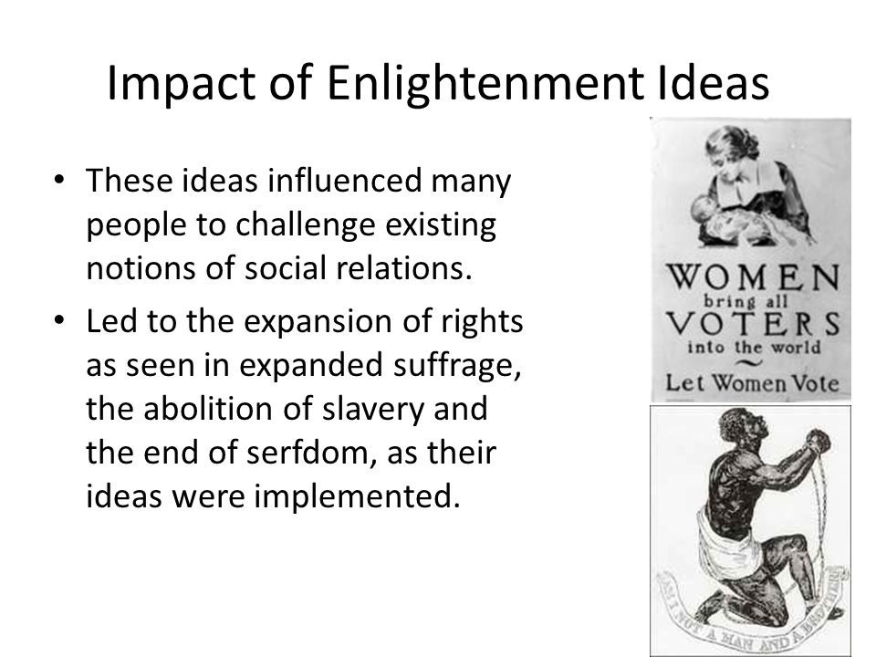 Impact of Enlightenment Ideas