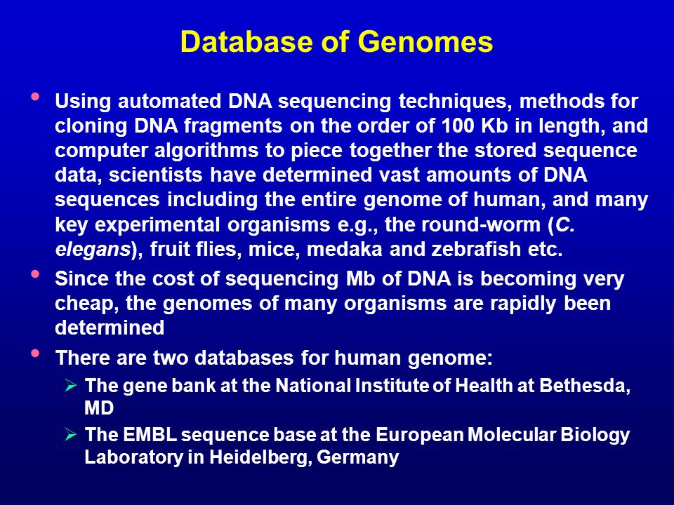 Database of Genomes