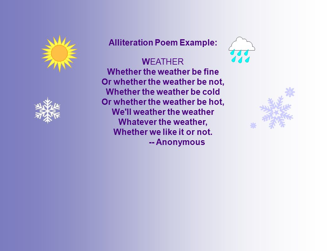 Examining figurative language ppt video online download for Alliteration poem template