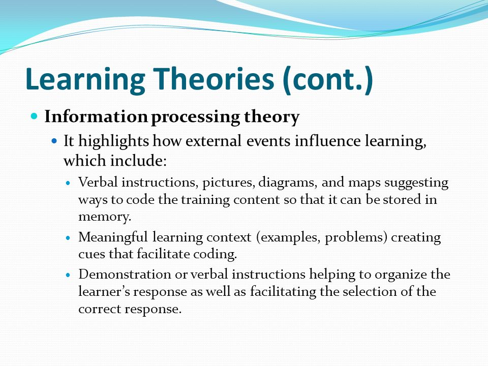 Chapter One Theories Of Learning Ppt Video Online Download