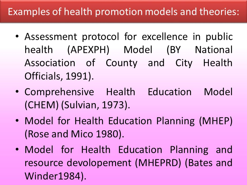 health promotion teaching plan Evaluation of teaching and learning the final phase of the health promotion teaching plan is the evaluation of components the teaching plan was clear, concise, and engrossed on the learner in the targeted age group.