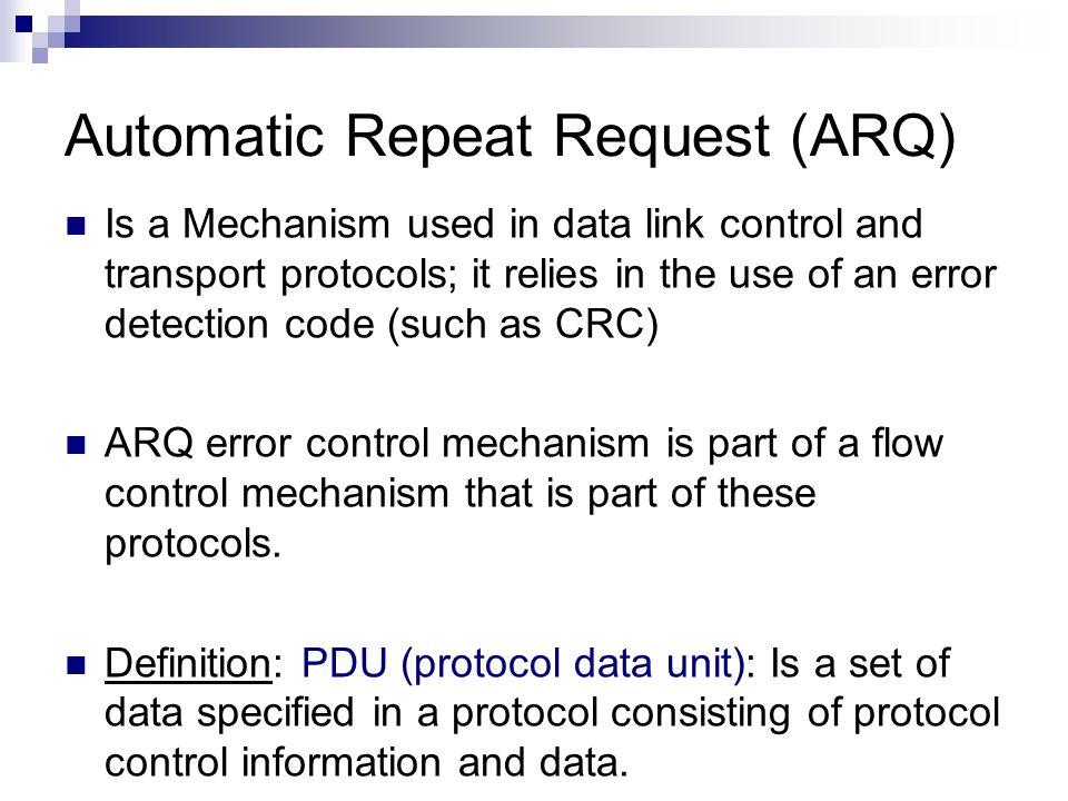 automatic repeat request arq protocols essay Combining the codes with automatic repeat request (arq), known as  turbo- codes and the arq protocols is given retransmission scheme.