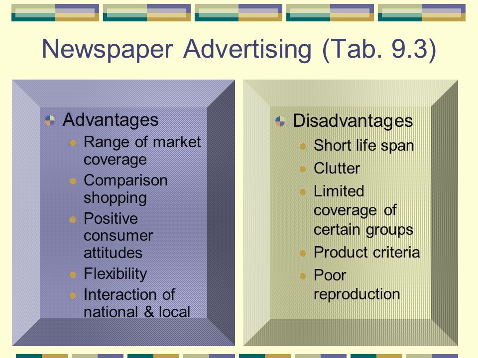 Advantages & Disadvantages of Internet and Newspaper Advertising
