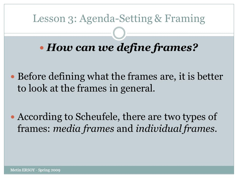framing and agenda setting bias in Start studying agenda setting, priming and framing learn vocabulary, terms, and more with flashcards, games, and other study tools.