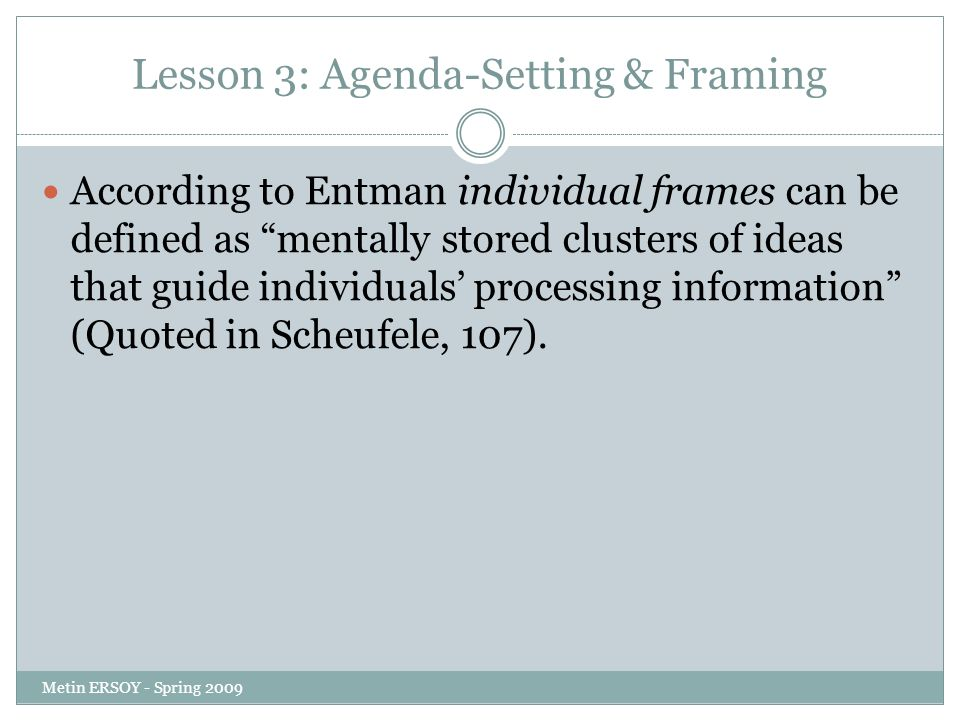 agenda setting definition