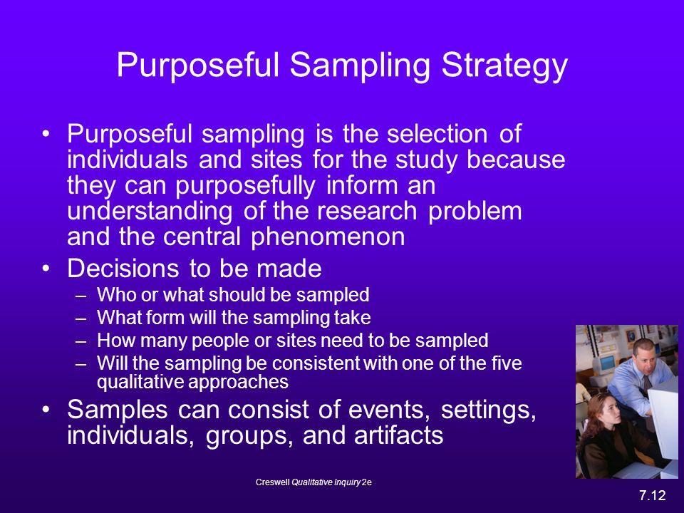 purposive sampling in quantitative research Dimension probability sample purposive sampling mixed methods names scientific sampling, random sampling, quant sampling purposeful sampling nonrandom sampling.