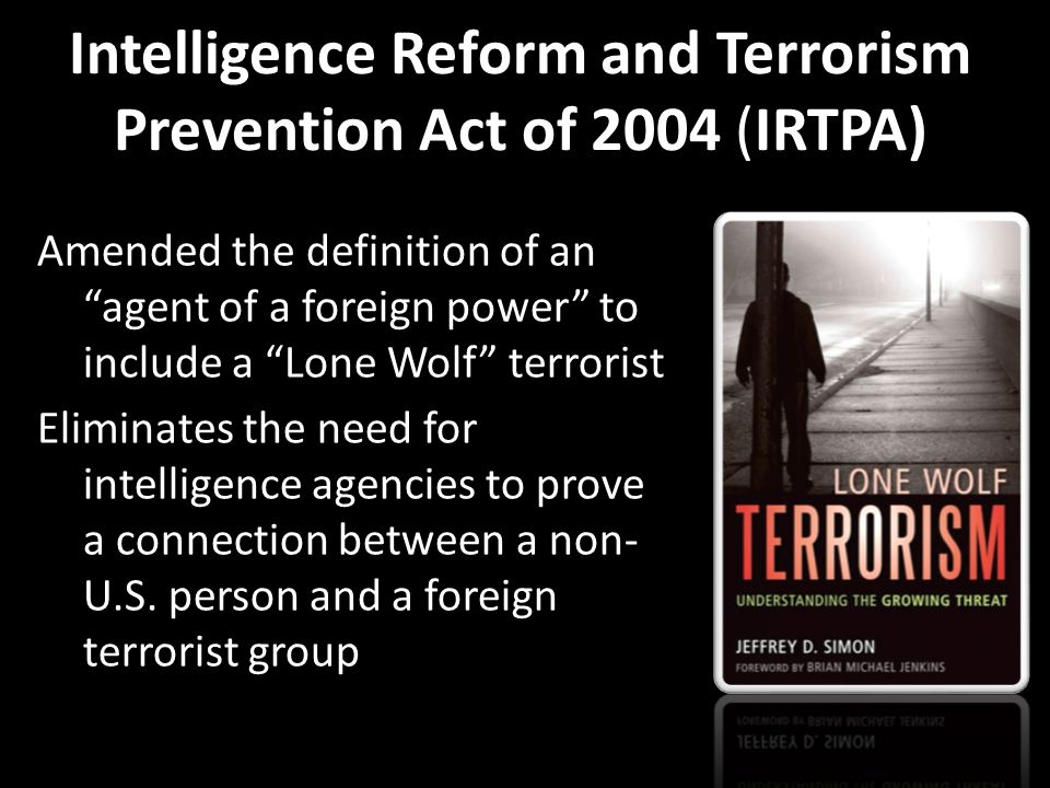 terrorism and intelligence failures essay Yale law & policy review urgency, opportunity, and frustration: implementing the intelligence reform and terrorism prevention act of 2004 john d negroponte and.
