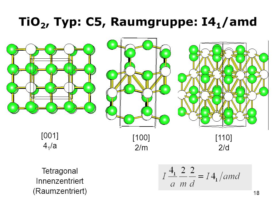 TiO2, Typ: C5, Raumgruppe: I41/amd