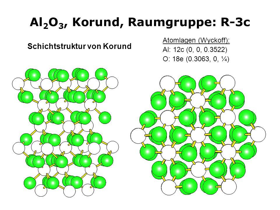 Al2O3, Korund, Raumgruppe: R-3c