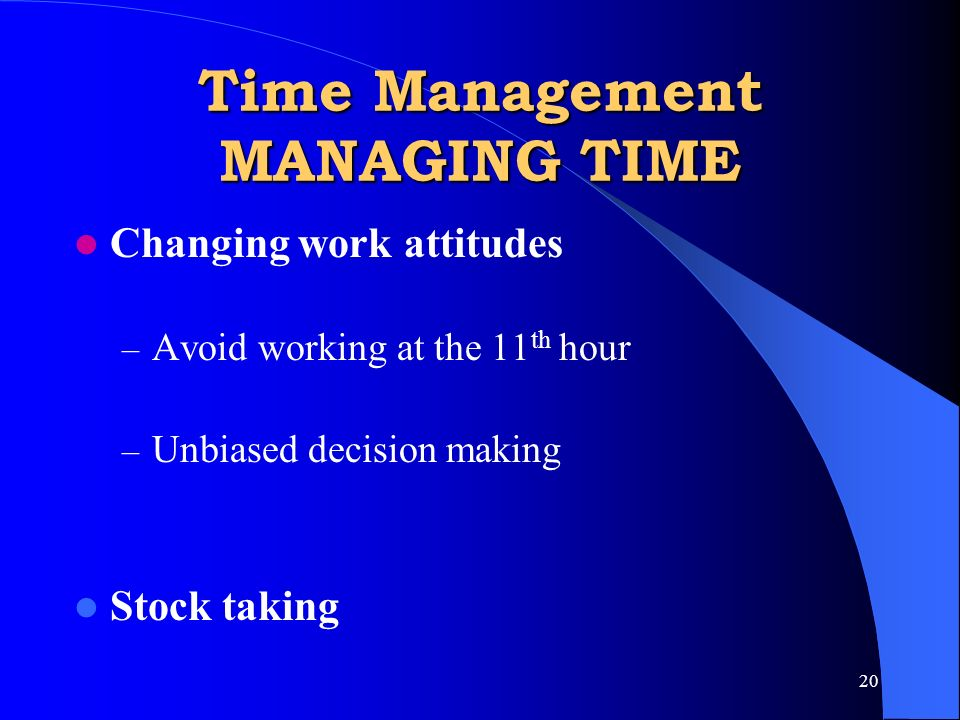 Time management give the test of time management and assess ppt time management managing time sciox Gallery