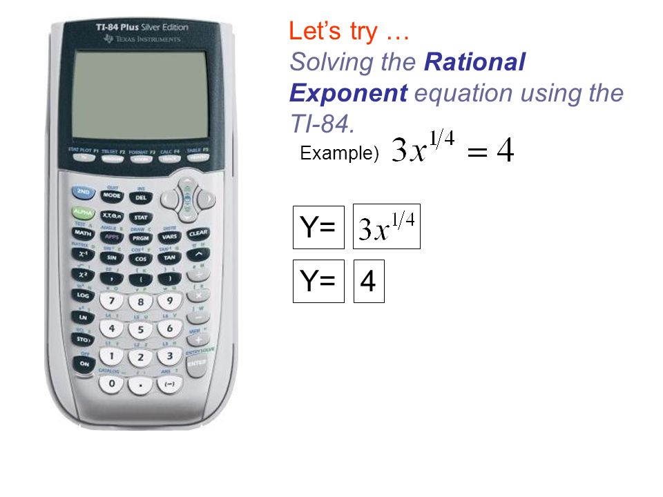 how to solve rational exponent equations