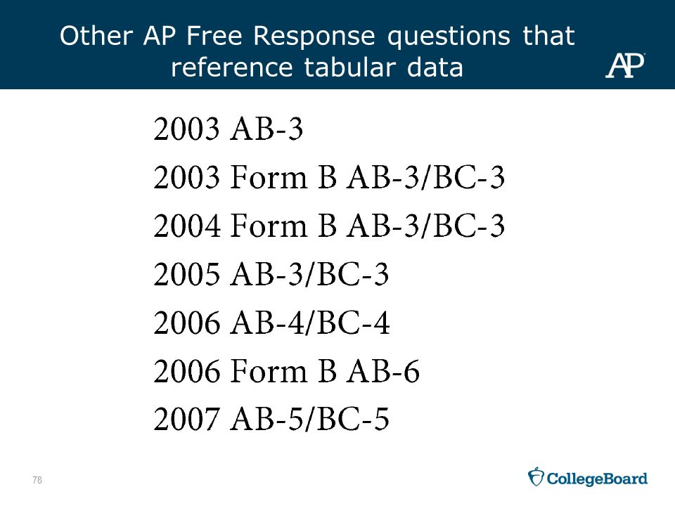 free response question number 4 2008 ap® statistics free-response questions (form b) question 3 intent of question 4 complete response.
