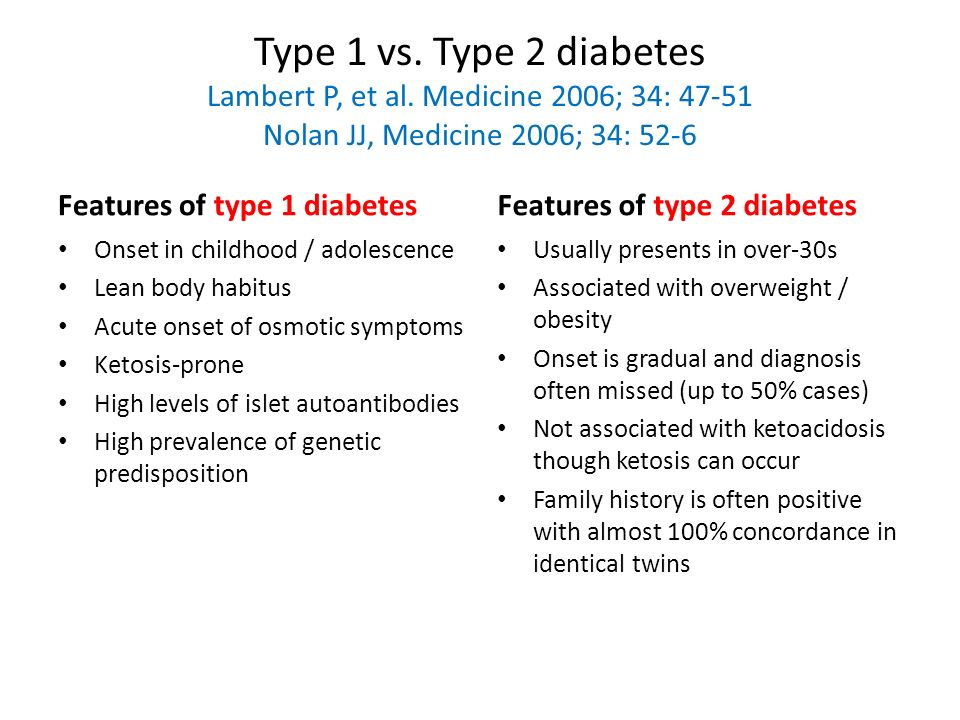 type 1 vs type 2 diabetes Type 1 diabetes is an autoimmune disease, so an autoantibody test may be done to help a doctor determine if you have type 1 or type 2 diabetes back to top type 2 diabetes treatment.