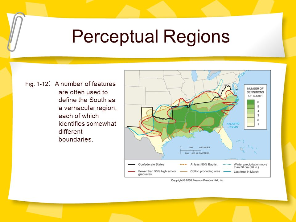 Vernacular Region 5 Themes of geography....
