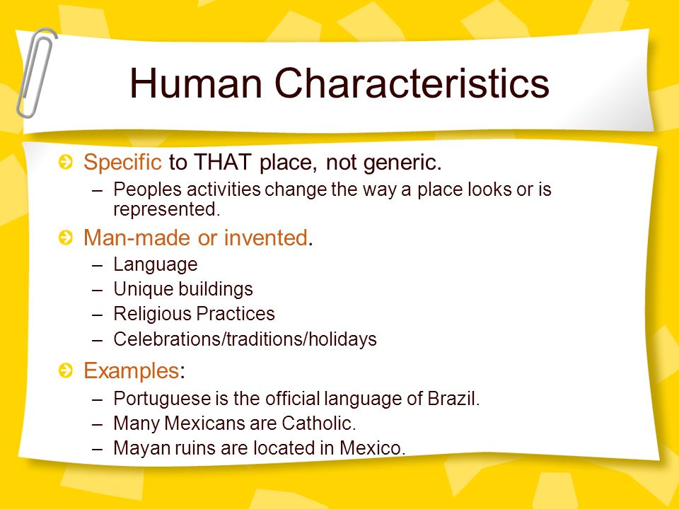Characteristics Qualities Human Nature
