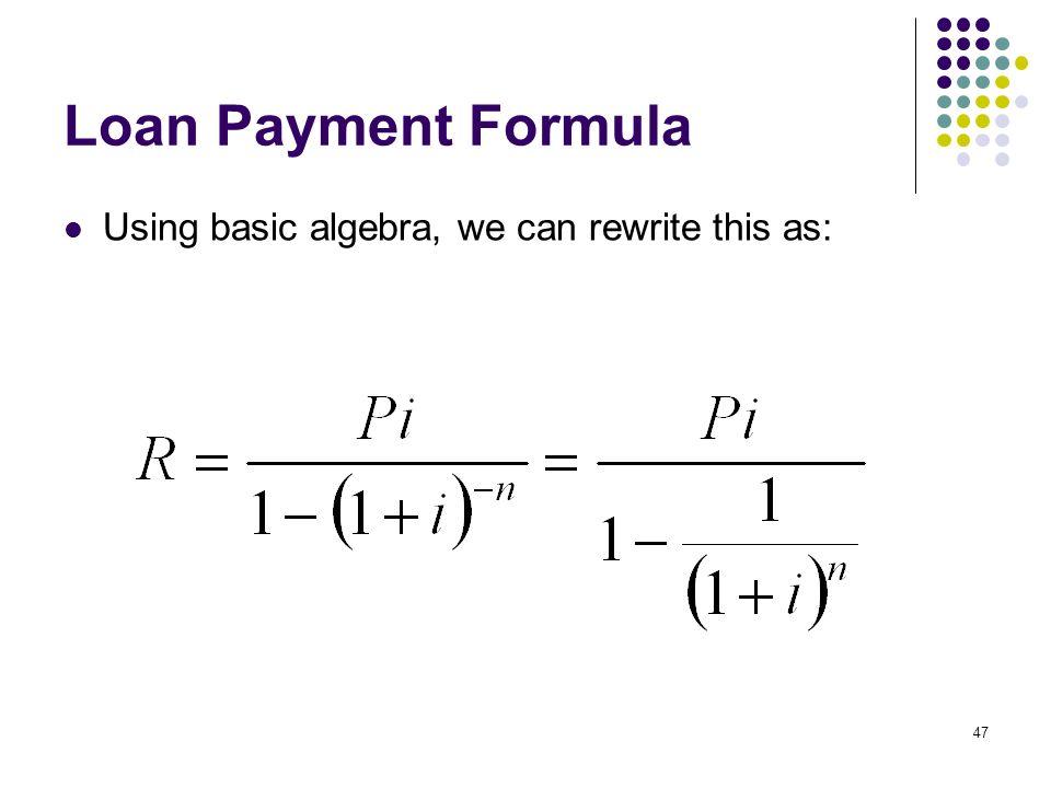 loan formulas