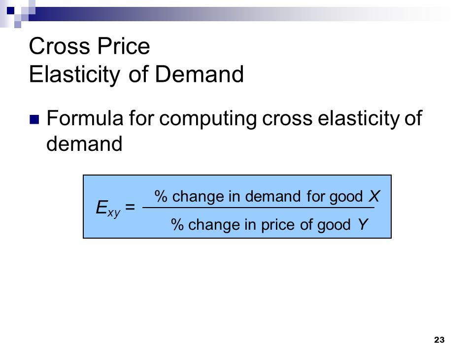 supply and demand and cross price elasticity Cross price elasticity of demand helps managers to understand when to reduce  their price and when to introduce innovations to beat the competition.