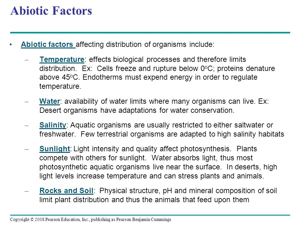 Abiotic and Biotic Factors in the Environment