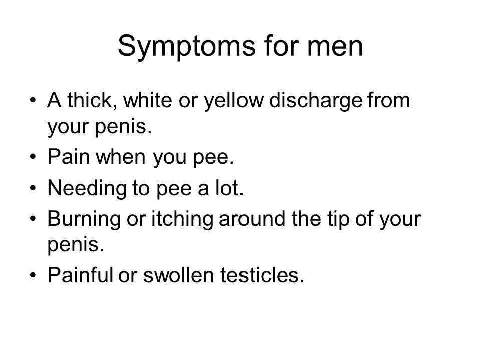 yellow secretion from penis