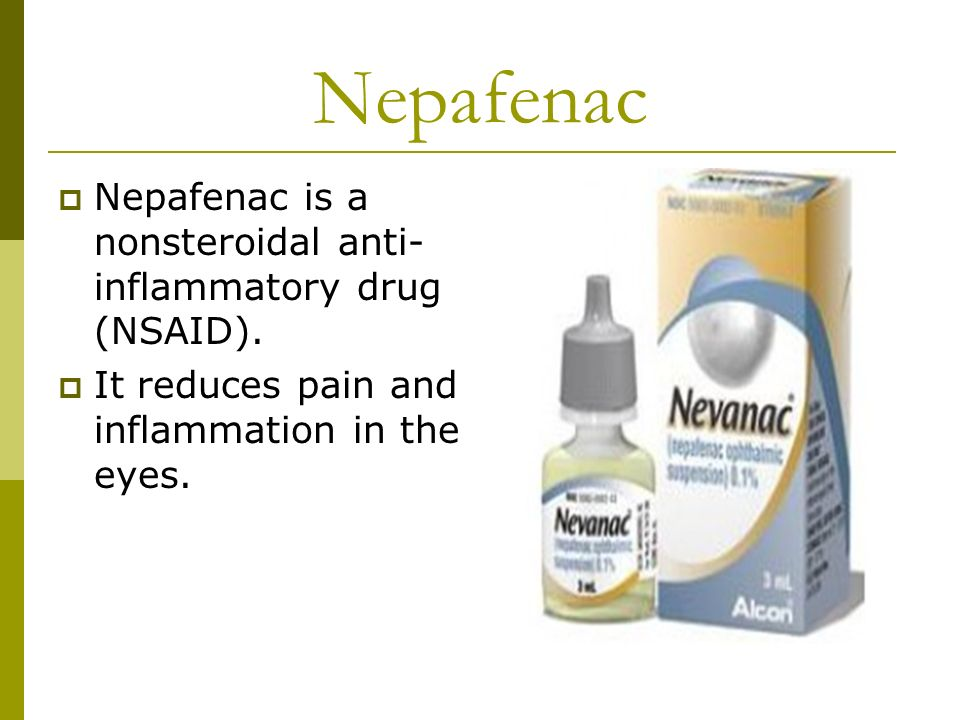 Nepafenac Ophthalmic recommend