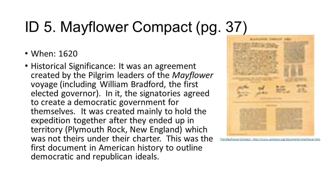 Why Is the Mayflower Compact Important?