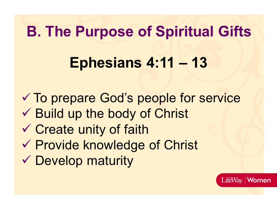 Why did God give us spiritual gifts?