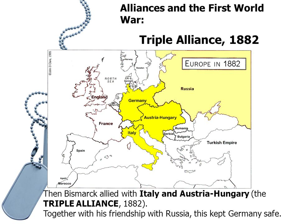 the role of alliances in the first world war Worlds first attempt to prevent war (league of nations) the reason that they have the alliances is so when they are in need, the other country or countries can help them out the cause of a world war- the alliance system.