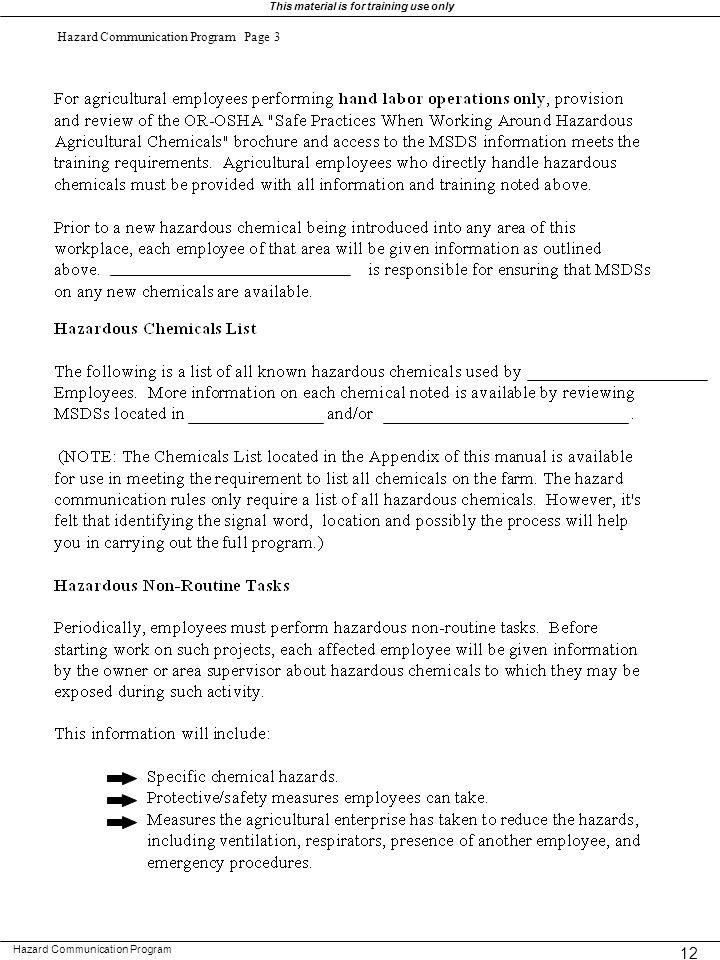 Hazard Communication Program Page 3