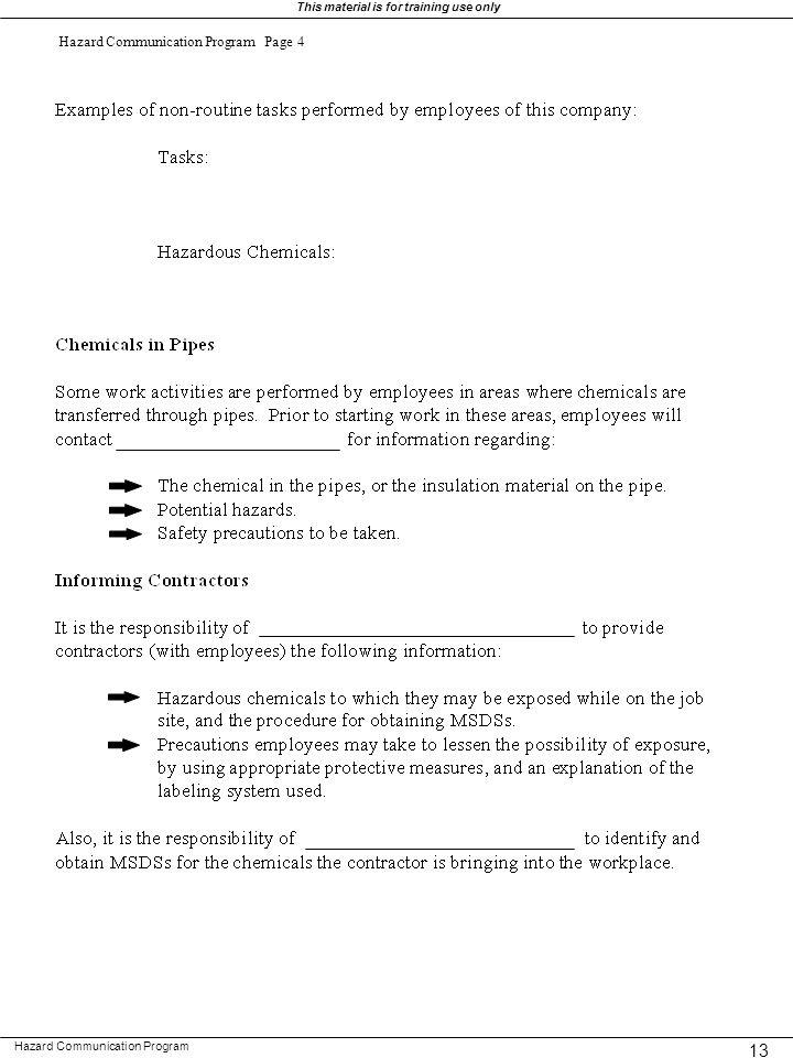 Hazard Communication Program Page 4