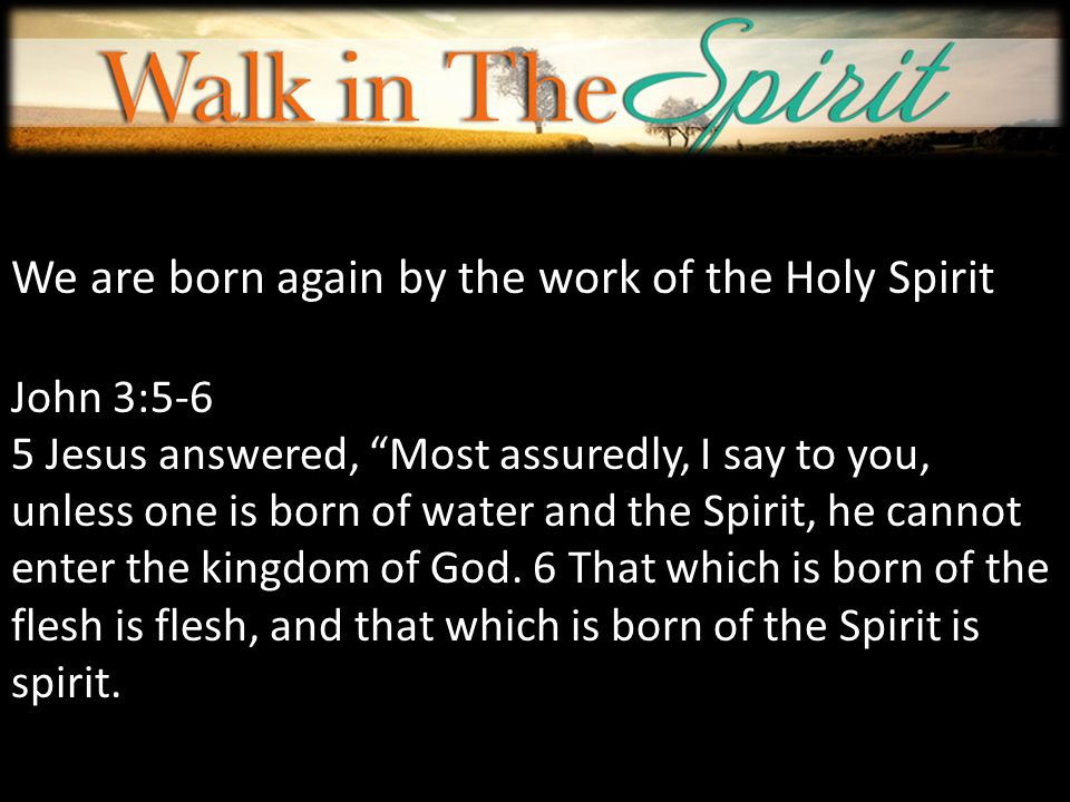 We are born again by the work of the holy spirit ppt video we are born again by the work of the holy spirit thecheapjerseys Gallery