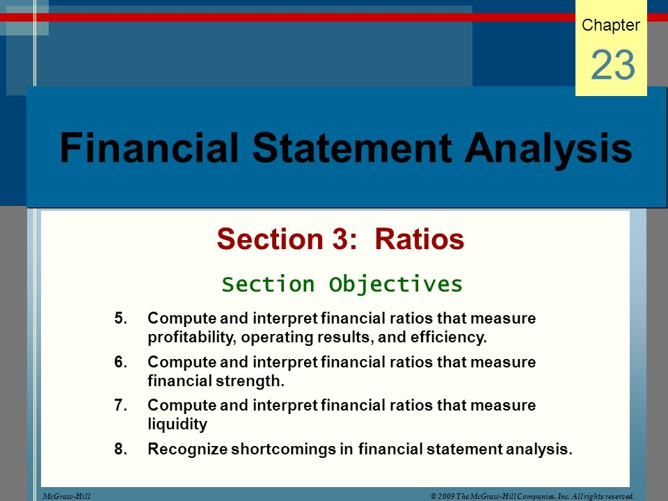 Financial statement analysis lecture 5