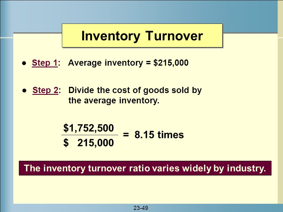 the inventory turnover ratio in oil industry Work employed five (5) financial ratio analysis such as total assets turnover ratio ( tatr),  quoted oil and gas companies on the nigeria stock exchange (nse.