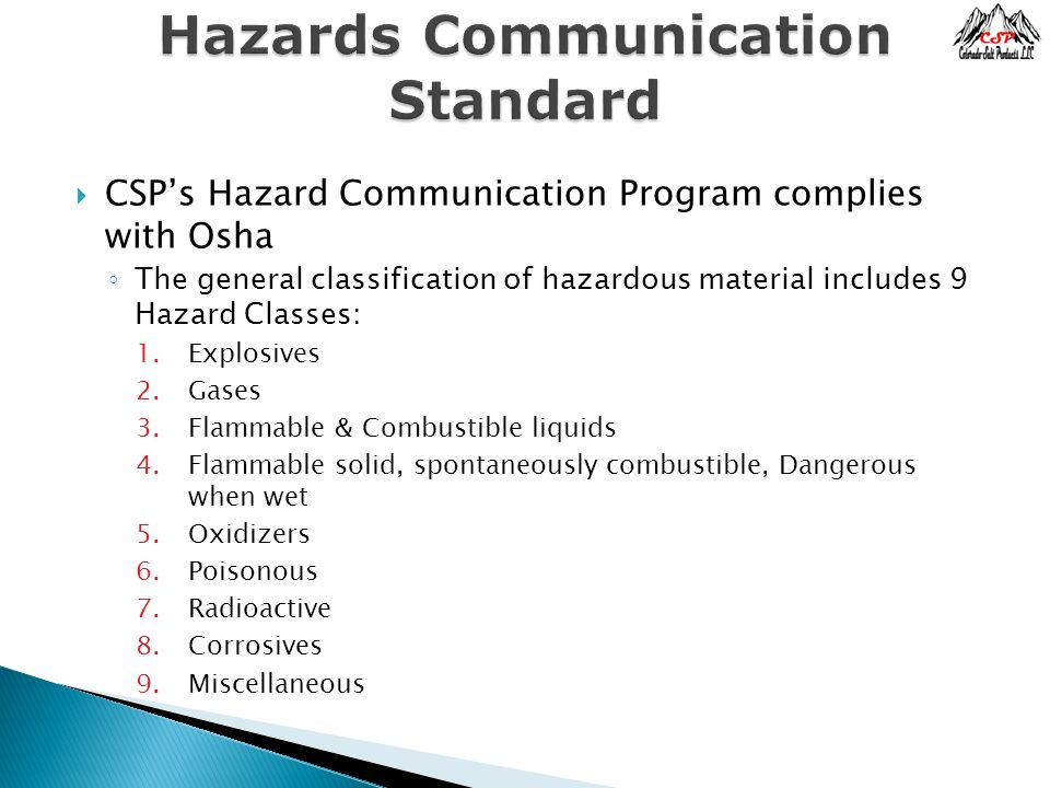 Hazards Communication Standard Ppt Video Online Download