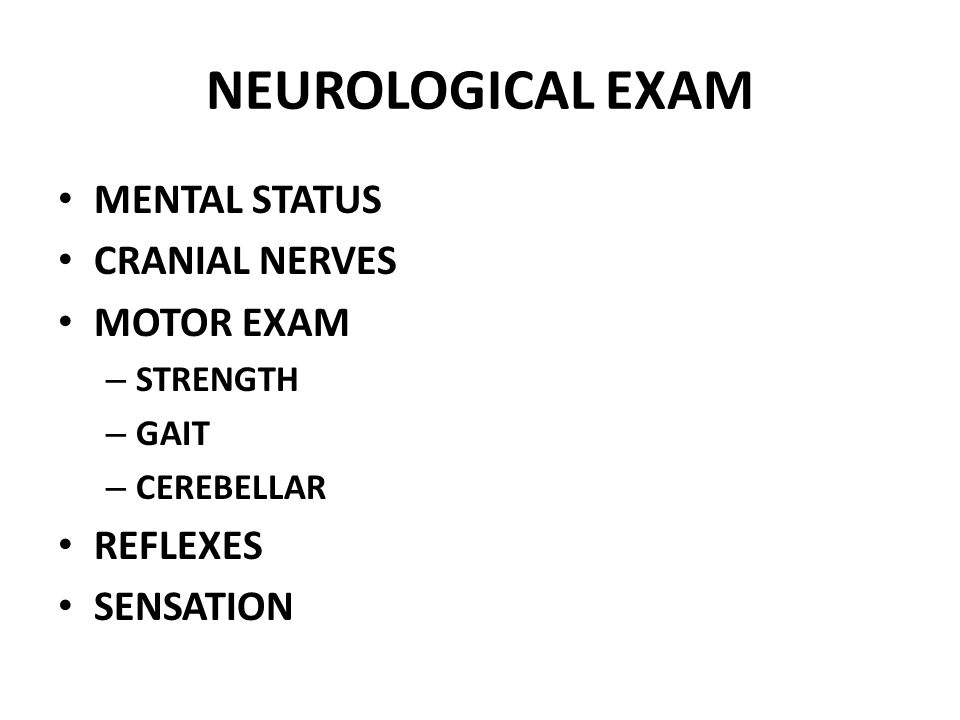 Neuro Motor Exam