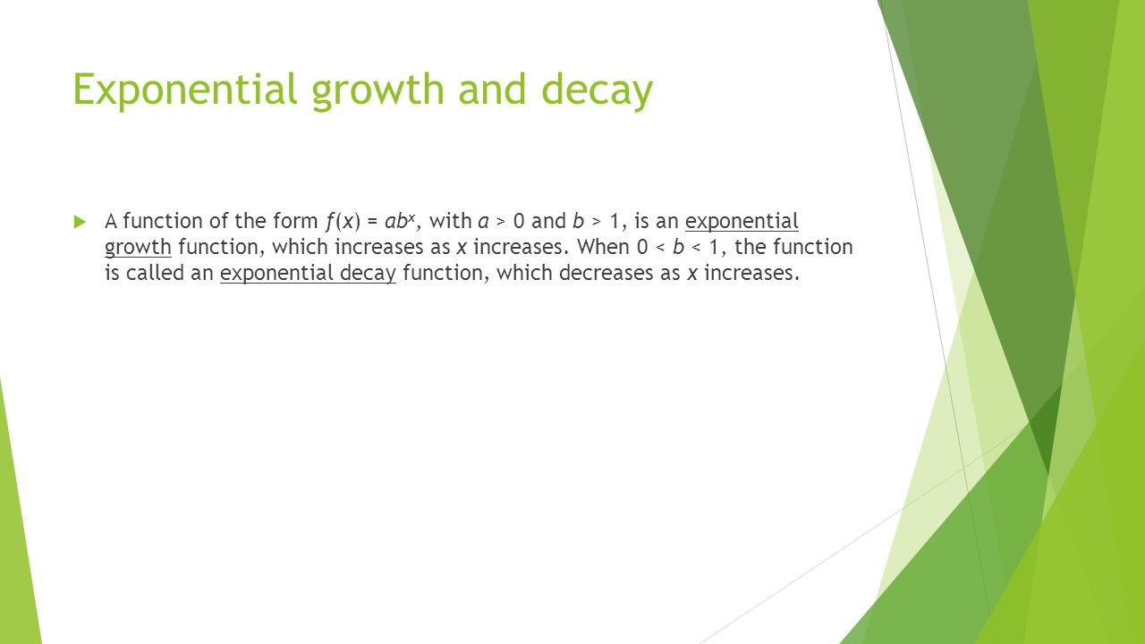 41 exponential functions growth and decay ppt download – Exponential Decay Worksheet