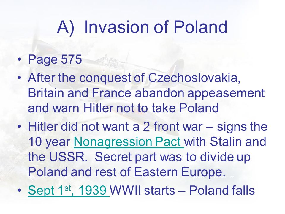 A) Invasion of Poland Page 575