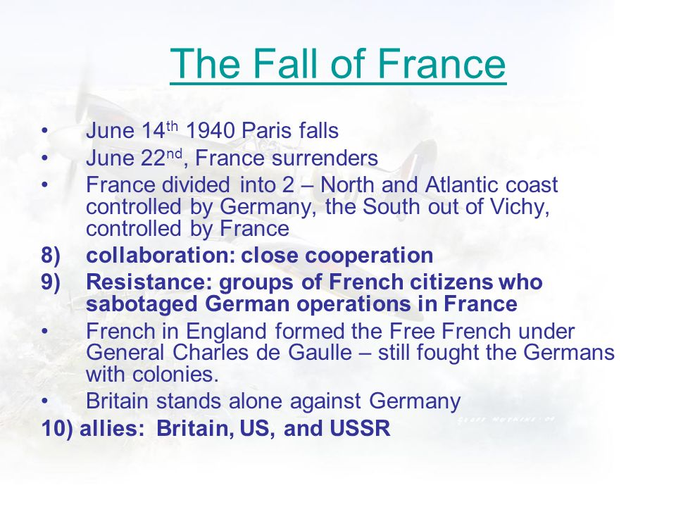 The Fall of France June 14th 1940 Paris falls