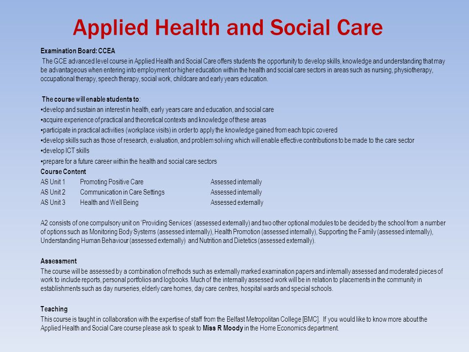 unit 22 level 3 health and The athe level 5 extended diploma in management for health and social care is ofqual  must study all 3 mandatory units and 1 optional unit  level 3 subjects.