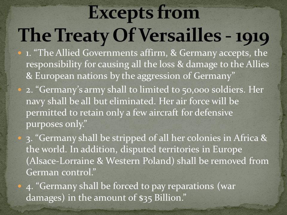 germany being forced to accept sole responsibility for causing world war i Wwi document archive  official papers  the russian orange book  to prevent war germany is at one with  of war, of throwing -the responsibility not.