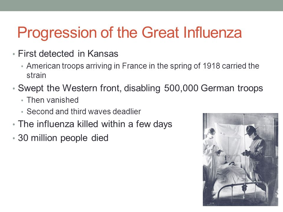 Progression of the Great Influenza