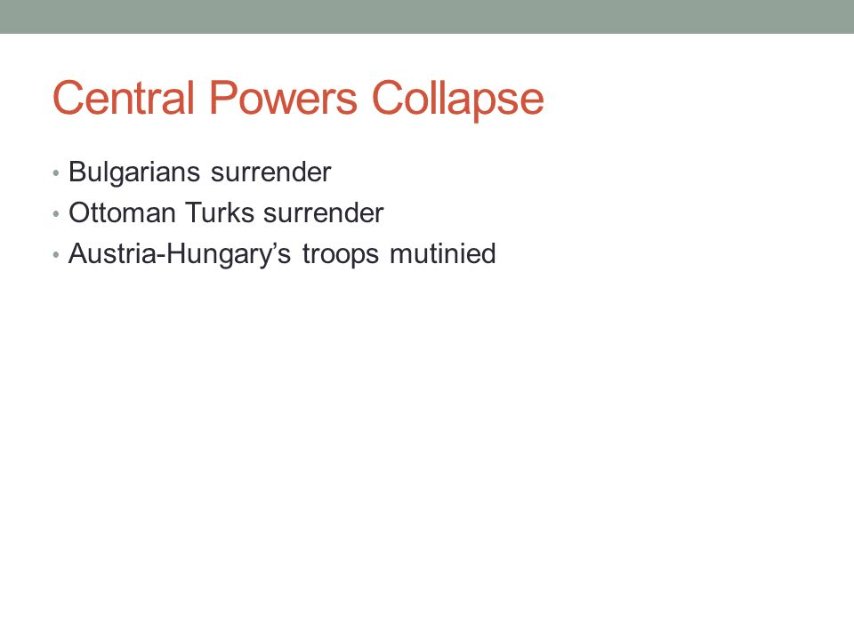 Central Powers Collapse