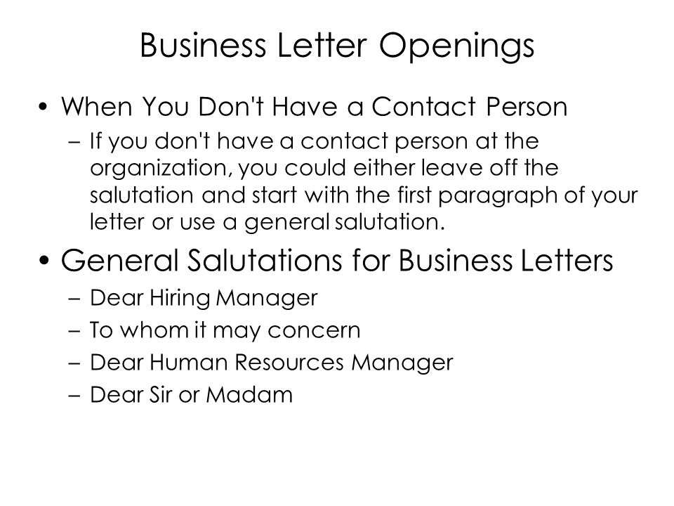 letter openings