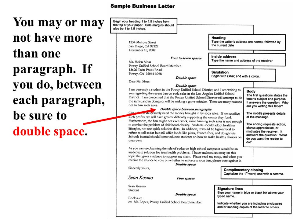 do you double space a cover letter - how to write a business letter ppt video online download