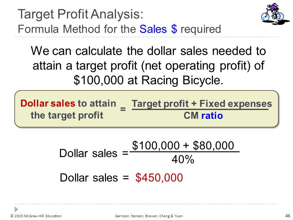 business revenue and target gross margin Calculate revenue to meet a target margin i want to know what i need to set my revenue at to hit a target margin (the target margin is a cell that will be editable) the formula i came up with is.
