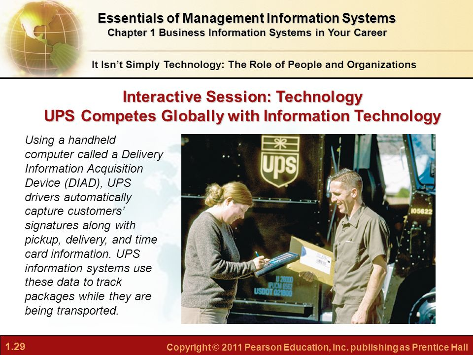 UPS COMPETES GLOBALLY WITH INFORMATION TECHNOLOGY Case Study Answer