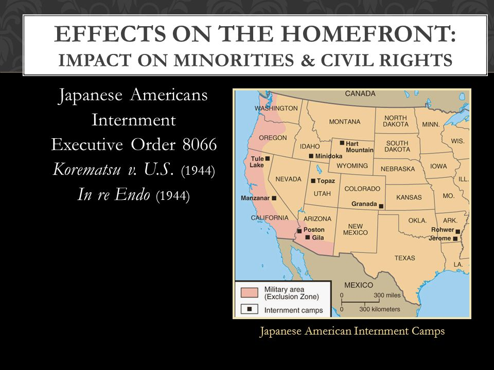 racial discrimination and civil rights deprivation on japanese internment camps during world war ii The internment of 110,000 japanese americans for the duration of world war ii at the time of the  ∙ students will evaluate the decision of the government to relocate japanese americans to internment camps during the war  protect against espionage outweighed the individual rights of americans of japanese descent.