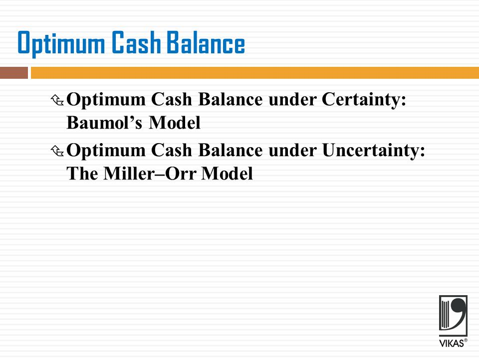 cash model